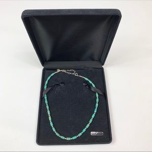 Vintage sterling silver 925 turquoise necklace